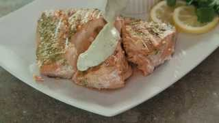 How To Make Easy And Delicious Salmon With A Creamy Dill Sauce| T-fal Optigrill