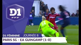 J8 : Paris SG - EA Guingamp (1-0) / D1 Féminine