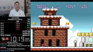 (37:48) Super Mario Bros.: The Lost Levels D-4 Warpless (Mario) speedrun