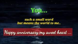 Wedding Anniversary Wishes to Wife  - WhatsApp Video Status