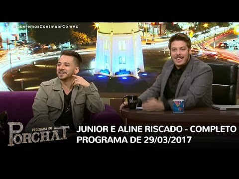 Programa do Porchat (completo) - Junior Lima e Aline Riscado | 29/03/2017