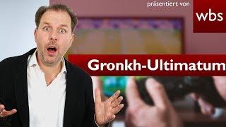 Gronkh: Die Medienanstalt NRW stellt Ultimatum | Rechtsanwalt Christian Solmecke