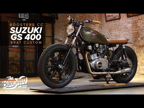 Suzuki GS400 Brat Custom By Roosters CC