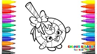 SHOPKINS Coloring Pages - LOLLI POPPINS - Crayola Coloring Book - Color With Me - SPEED COLORING