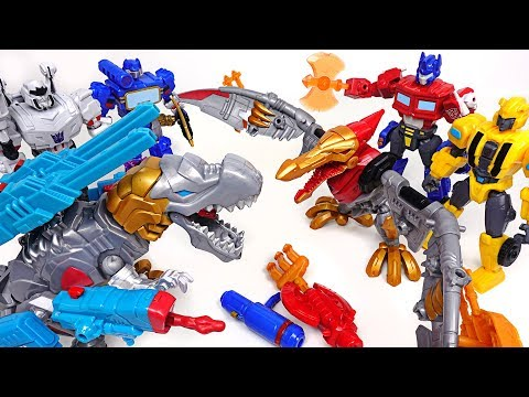 Transformers hero Mashers dinosaur dinobot and Bumblebee, Optimus Prime appeared! - DuDuPopTOY