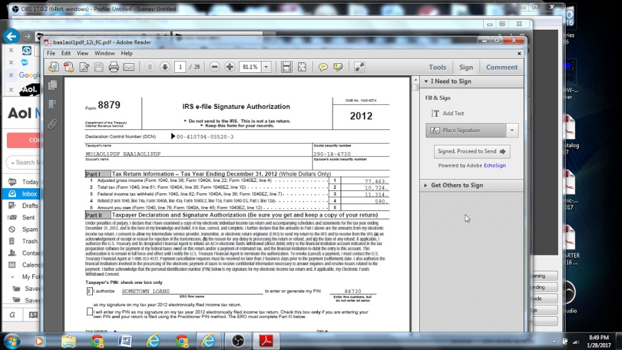 How to sign a PDF Adobe Reader Jan 27 2017