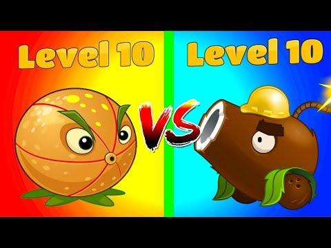 Plants vs Zombies 2 Gameplay - Coconut Cannon 10 vs Citron 10 Max Level Compare Plants in PVZ 2