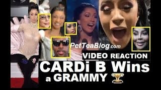 Cardi B Wins Grammy & Goes Crazy! Safaree, Lil Kim, Remy Ma & Iggy Are HAPPY! (ViDEO) 🏆✔️👀