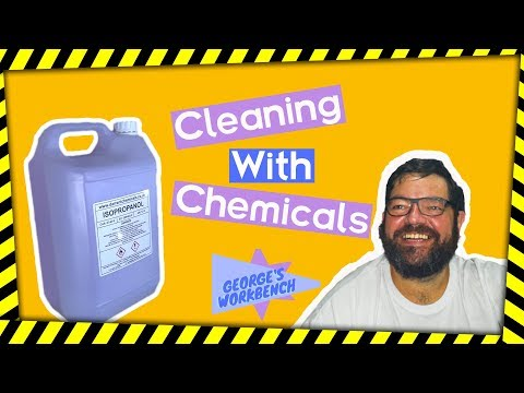 Cleaning with chemicals. Isopropyl Alcohol