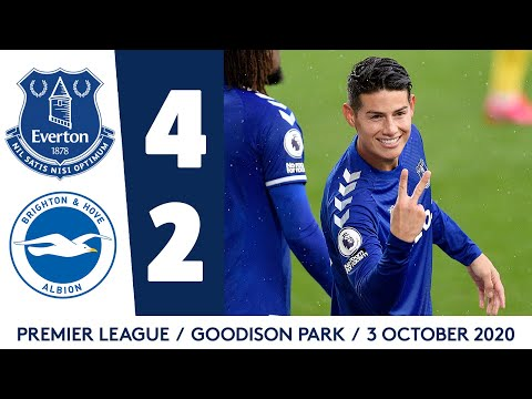 EVERTON 4-2 BRIGHTON | JAMES RODRIGUEZ AT THE DOUBLE! | PREMIER LEAGUE HIGHLIGHTS
