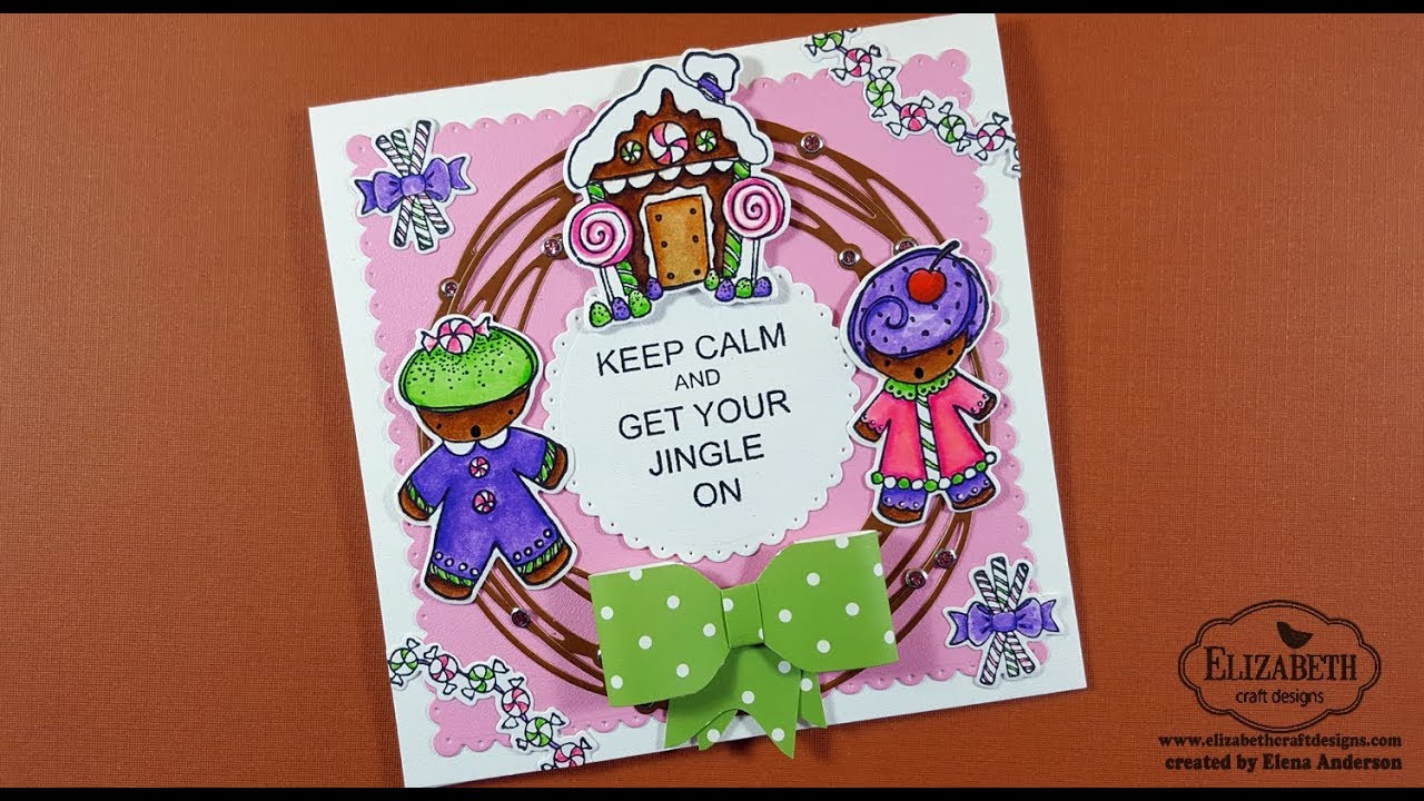 Gingerbread Christmas Wreath Card For Elizabeth Craft Designs Blog