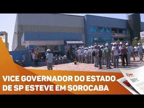 Vice Governador do Estado de São Paulo discute desenvolvimento na região  - TV SOROCABA/SBT