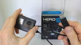 GoPro Hero 5 / Hero 6 Black: How to Charge / Connect to Power