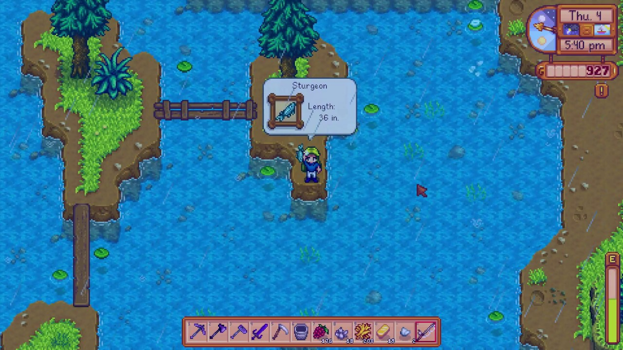 How To Get A Sturgeon Fish Stardew Valley Youtube