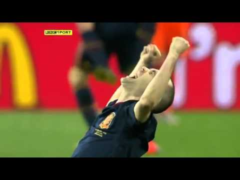 Iniesta goal in World Cup final. HD