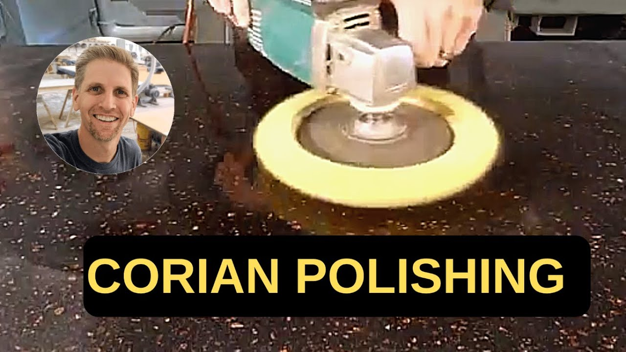 Polishing Corian Countertops How To Solid Surface Countertop Finishing And Polishing Part 2