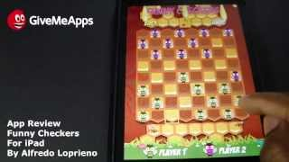 Funny Checkers For iPad - Best 1 or 2 Player Checker App!