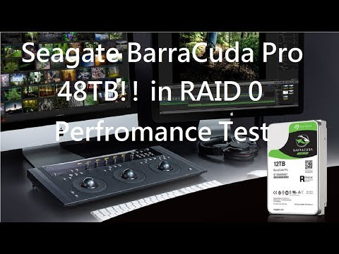 Performace Seagate BarraCuda Pro 12TBx4  48TB in RAID 0