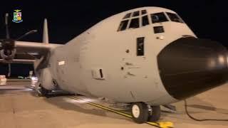 Covid: 27 tonnellate di materiale sanitario trasportato da 4 velivoli dell'Aeronautica Militare