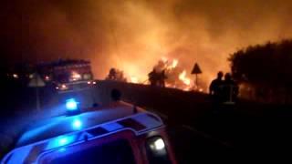 feu de foret st bauzille ( hérault ) 2010
