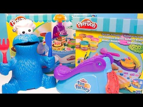 Play Doh Fun Factory Machine Scoops 'n Treats Ice Creams Machine Popcorn Machine Hasbro Toys