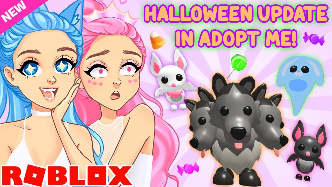 SISTER SQUAD PLAYS BRAND NEW HALLOWEEN UPDATE... Roblox Adopt Me Halloween 2020