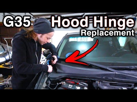 Hood Hinge Replacement [DIY Installation // Infiniti G35]