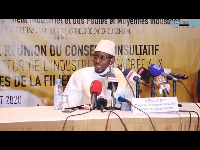 Réunion du Conseil Consultatif de l'Industrie : La filiere de l'acier pour relancer les activités