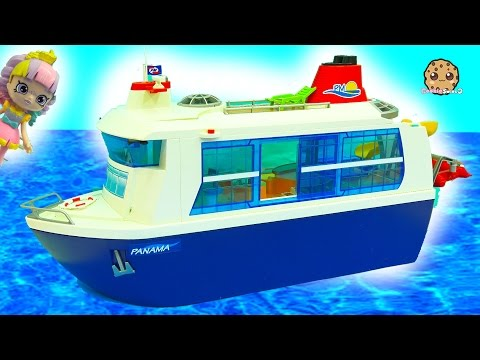 Strange Cruise Ship Trip - Shopkins Happy Places Shoppies Rainbow Kate Playmobil Vacation  Toy Video
