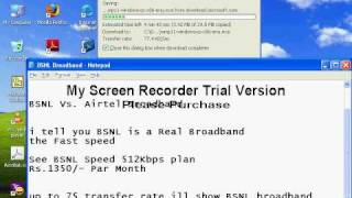 BSNL 512kbps Plan Download Speed up to 75 KB/sc