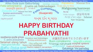 Prabahvathi   Languages Idiomas - Happy Birthday