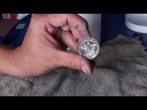 วิธีทำความสะอาด เหรียญขึ้นสนิมเขียว