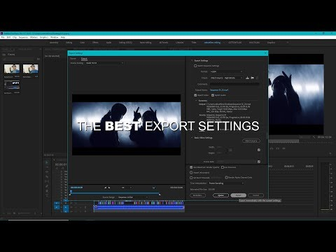 The BEST Export Settings For Music Videos | Adobe Premiere Pro CC (VEDA VLOG #17)