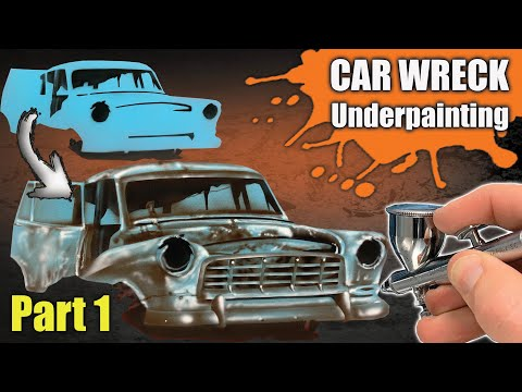 Learn how to Airbrush a Car Wreck : Part 1 - Underpainting