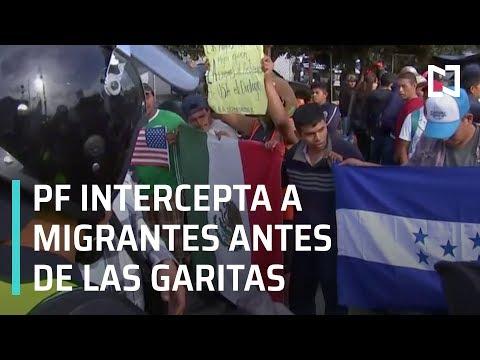 PF intercepta a Caravana Migrante de Honduras en las Garitas - En Punto con Denise Maerker