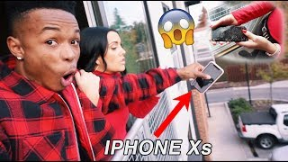 I THREW MY GIRLFRIEND'S IPHONE Xs OFF THE BALCONY!! *PISSED*