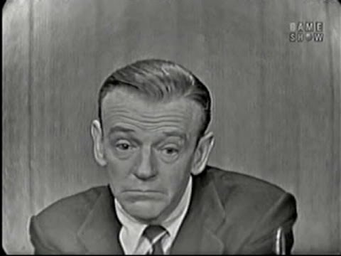 What's My Line? - Fred Astaire; Martin Gabel [panel] (Jun 8, 1958)