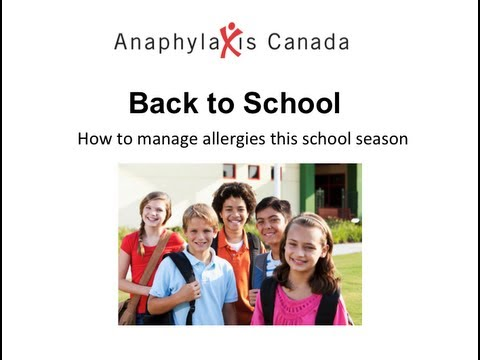 Back to School 2013 – How to Manage Allergies this School Season