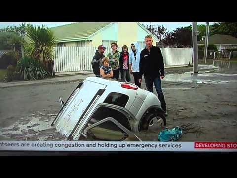 Christchurch Earthquake (22.02.2011) - Liquefaction & Road Damage