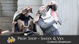 prop shop shaxx and vex costume breakdown