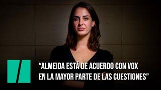 """Rita Maestre: """"Almeida está de acuerdo con Vox en la mayor parte de las cuestiones"""""""