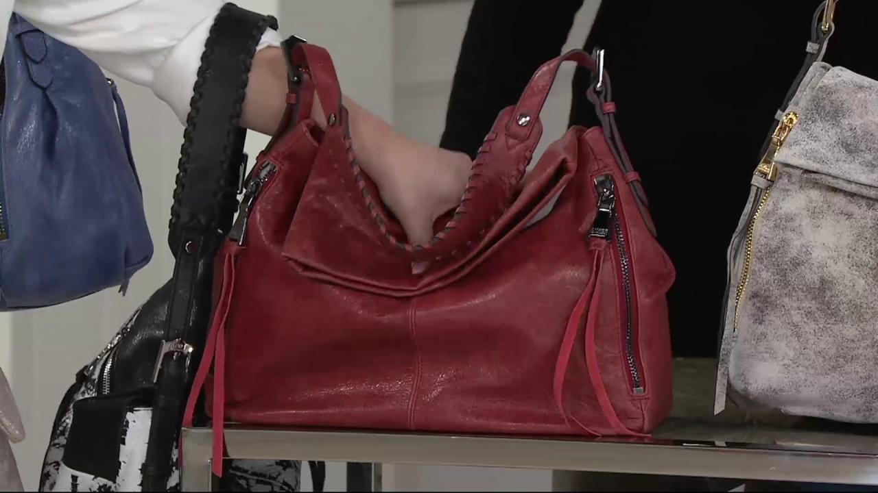 5a066e8440 Aimee Kestenberg Vintage Leather Hobo - Vertigo on QVC - YouTube