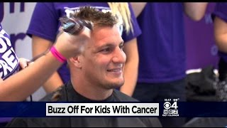 Rob Gronkowski Shaves Head To Boost Kids With Cancer