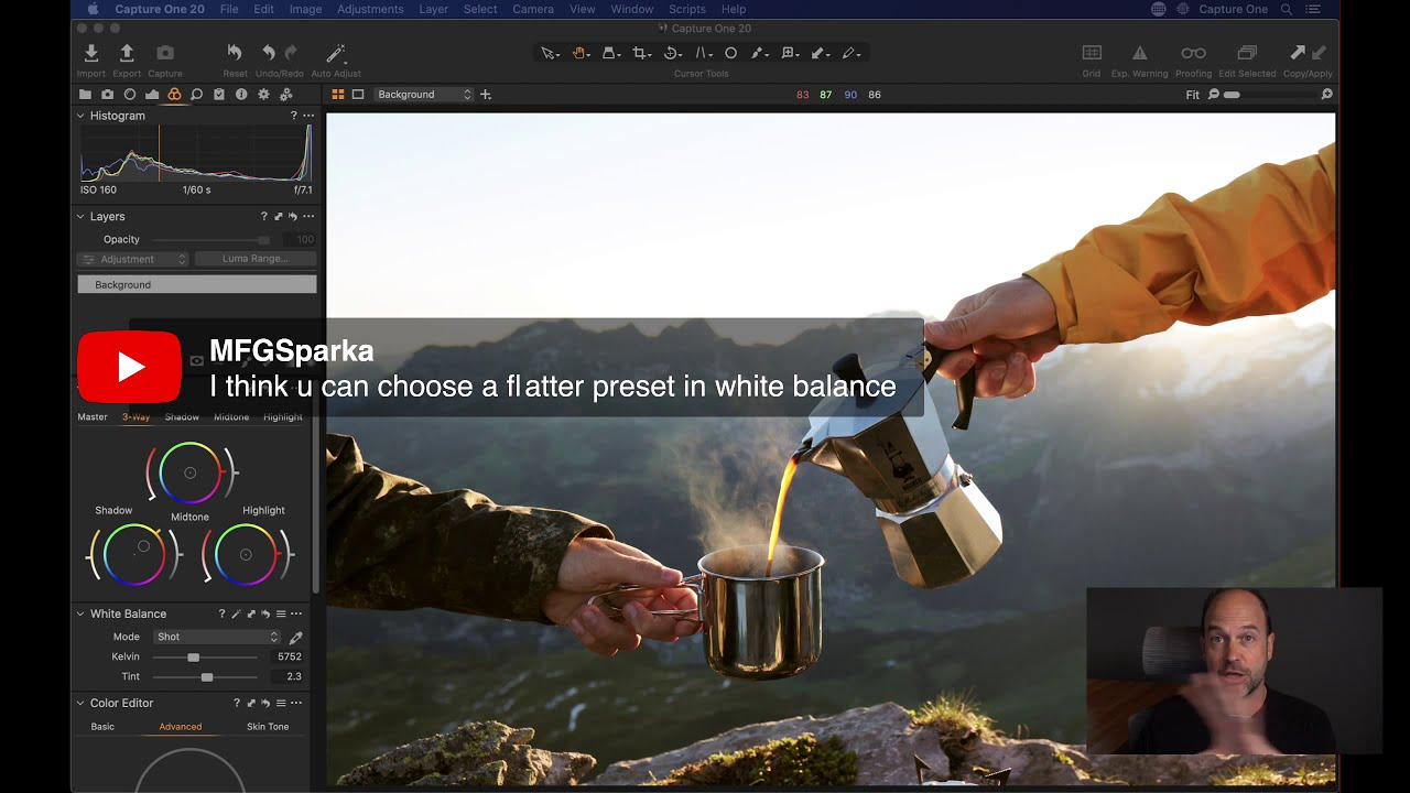 Capture One 20 Quick Live Focus On Color Grading Capture Photo Editing Youtube Live