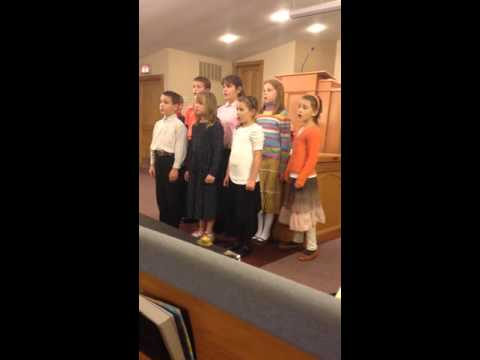 Kettle Moraine Baptist Academy Elementary Singers at Thanksgiving Service
