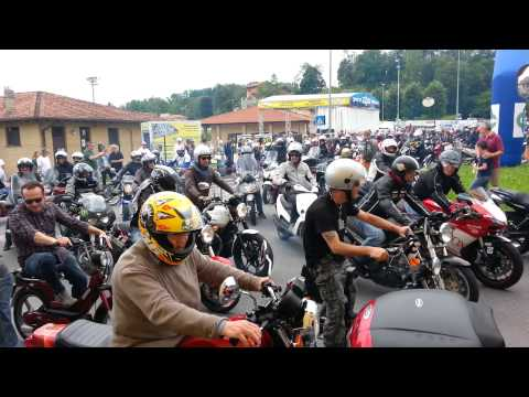Motoraduno 2014 Anzano del Parco - Partenza motogiro