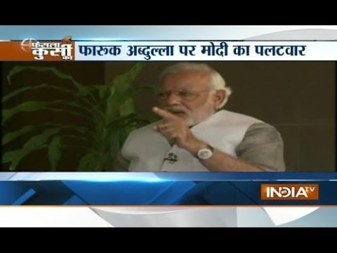 Modi hits out at Farooq and Omar Abdullah