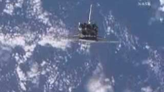 STS-126: Endeavour performs a backflip