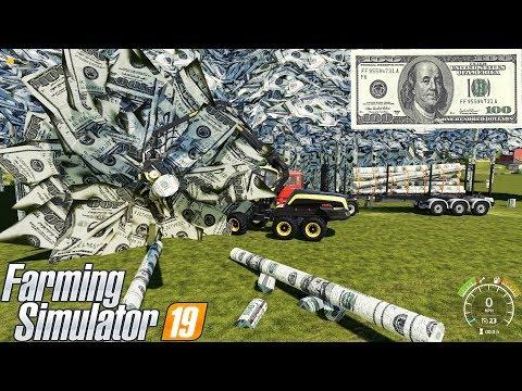 Farming Simulator 19 : MY FORESTRY $100 Bills ! TREE OF DOLLAR !!!  
