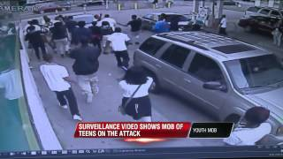 Man attacked by mob of teens at Memphis gas station
